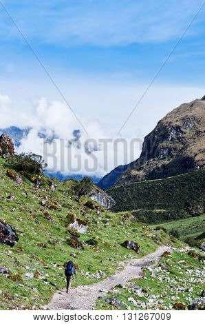 trekking in mountains Salkantay Trekking Peru South America