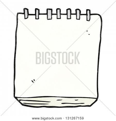 freehand textured cartoon note pad