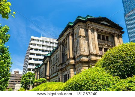 Head office of the central bank of Japan in Tokyo