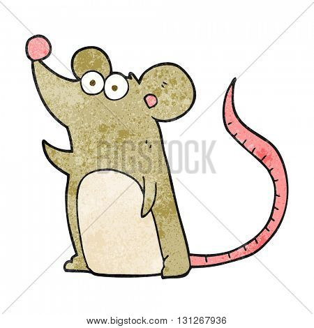 freehand textured cartoon mouse