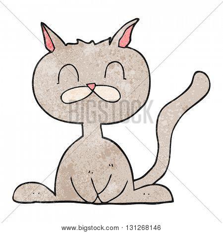freehand textured cartoon cat