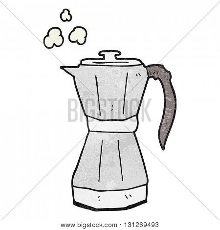 freehand textured cartoon stovetop espresso maker