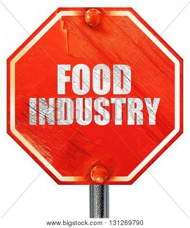 food industry, 3D rendering, a red stop sign