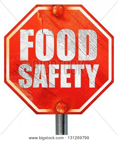 food safety, 3D rendering, a red stop sign