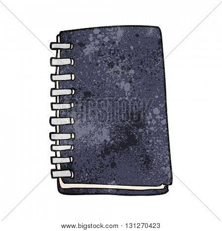 freehand textured cartoon note book