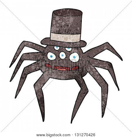 freehand textured cartoon halloween spider