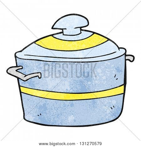 freehand textured cartoon cooking pot
