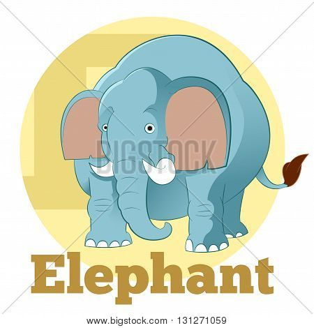 Vector image of the ABC ABC Cartoon Elephant4
