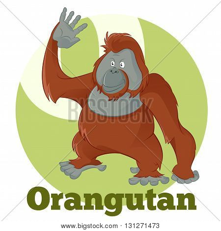 Vector image of the ABC Cartoon Orangutan2