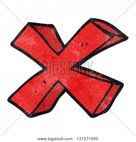 freehand textured cartoon negative x symbol