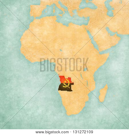 Map Of Africa - Angola
