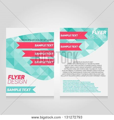 Brochure flier design template. Vector poster illustration. Leaflet cover layout in A4 size.