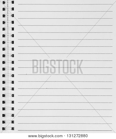old white paper isolated on white, copy space