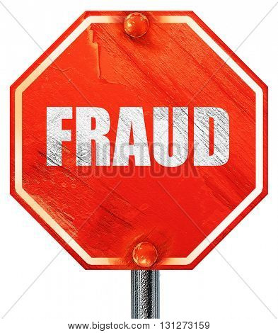 fraud, 3D rendering, a red stop sign