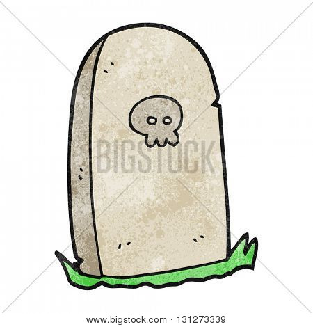 freehand textured cartoon grave