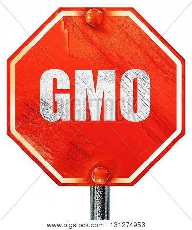 gmo, 3D rendering, a red stop sign