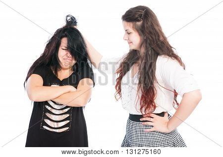 Bully Girl Grabbing Hair.