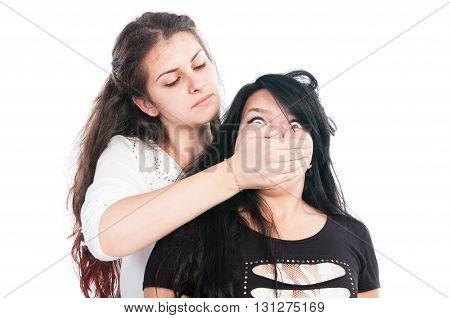 Older Girl Bullying Her Younger Friend