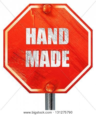 hand made sign, 3D rendering, a red stop sign