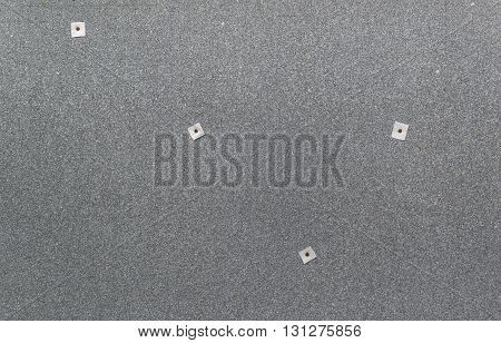 The texture of the roofing material with nails 4 pieces