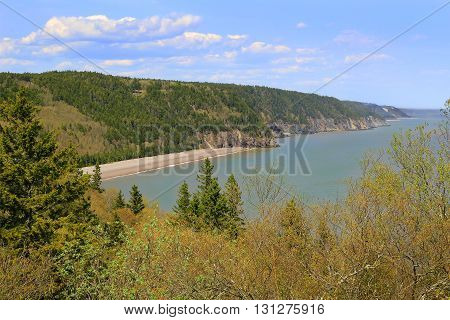 View Of Melvin Beach On Fundy Trail