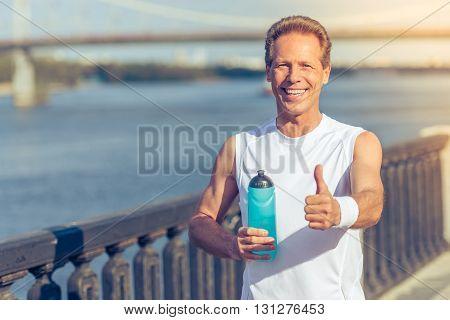 Handsome Man During Morning Run