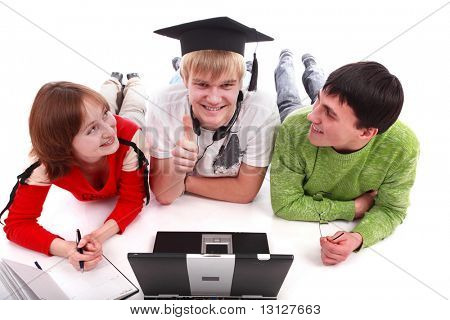 Portrait of a young people.Education background.