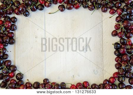 Red Cherries On A White Table