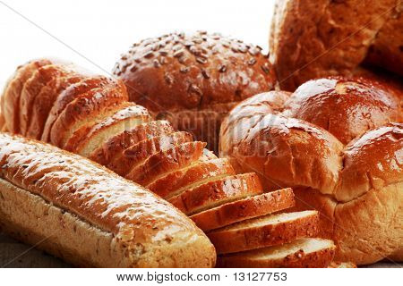 Bakery foodstuffs. Shot in a studio.