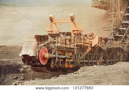 Huge mining machine in the coal mine - industry in Czech Republic
