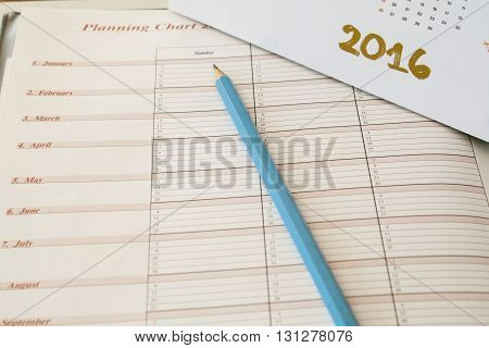 notebook for yearly planning expenses and finance for personal control