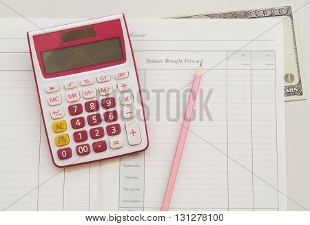 notebook for yearly expenses and planning finance and personal control