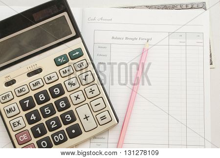 notebook for yearly expenses, planning finance and personal control