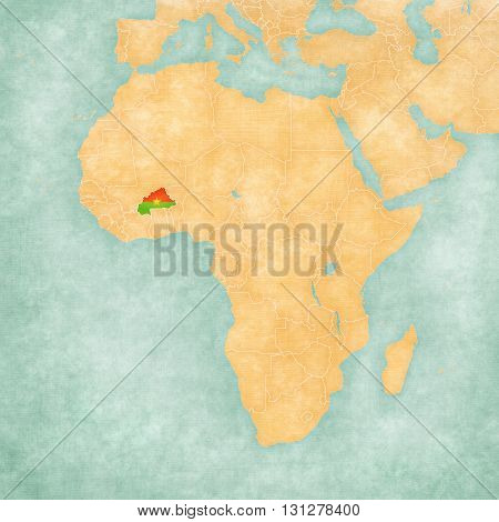 Map Of Africa - Burkina Faso