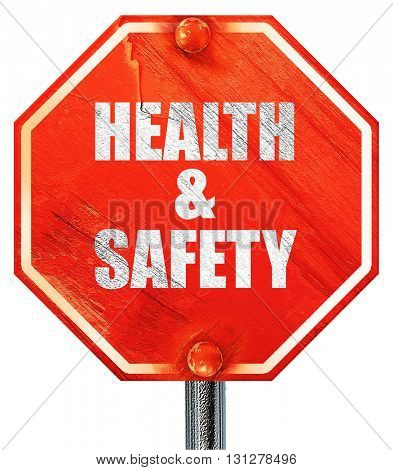 health , 3D rendering, a red stop sign