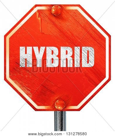 hybrid, 3D rendering, a red stop sign