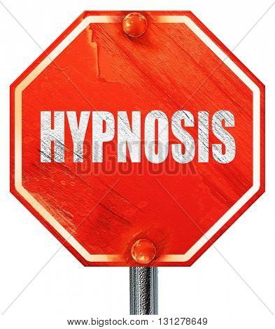 hypnosis, 3D rendering, a red stop sign