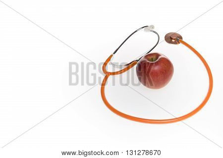 Apple Fresh Organic Natural Nutrient Apple Doctor's Stethoscope