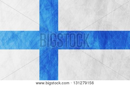 Finnish grunge flag vector design background