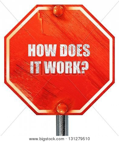 how does it work, 3D rendering, a red stop sign