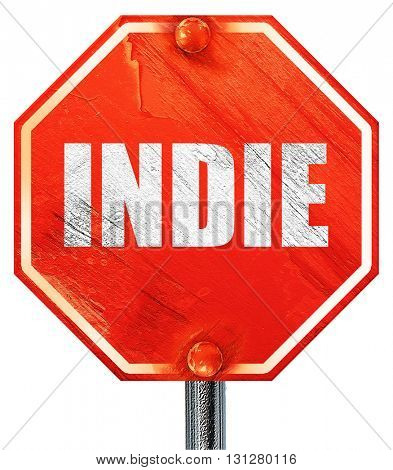 indie, 3D rendering, a red stop sign