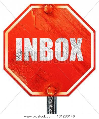 inbox, 3D rendering, a red stop sign