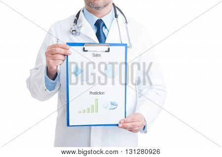 Anonymous Doctor Showing Medical Charts
