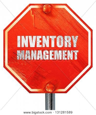 inventory management, 3D rendering, a red stop sign