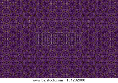 Vector ornate seamless border in Eastern style on deep violet background. Ornamental vintage pattern for wedding invitations and greeting cards. Traditional gold decor. art