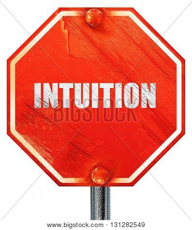 intuition, 3D rendering, a red stop sign