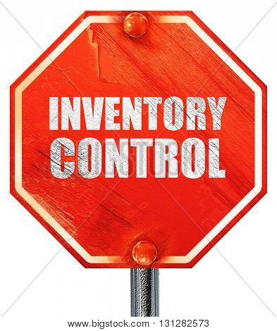 inventory control, 3D rendering, a red stop sign