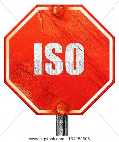 iso, 3D rendering, a red stop sign