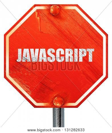 javascript, 3D rendering, a red stop sign