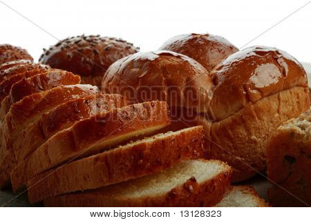 Bäckerei-Lebensmittel. In einem Studio gedreht.
